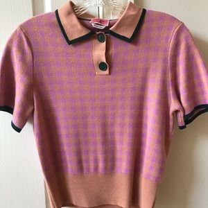 KATE SPADE NEARLY NUDE SUMMER POLO SWEATER SIZE XS